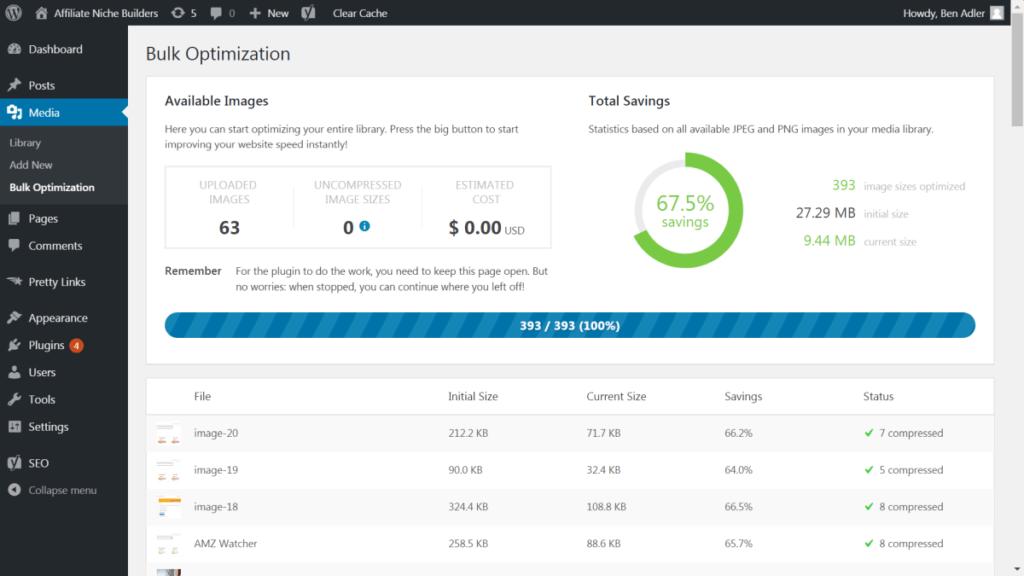After bulk optimization with TinyPNG WP plugin