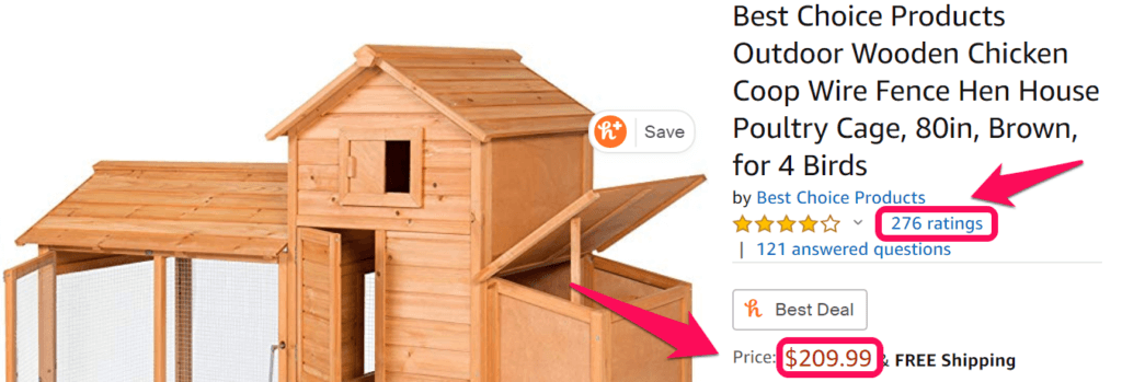 Chicken coops on Amazon